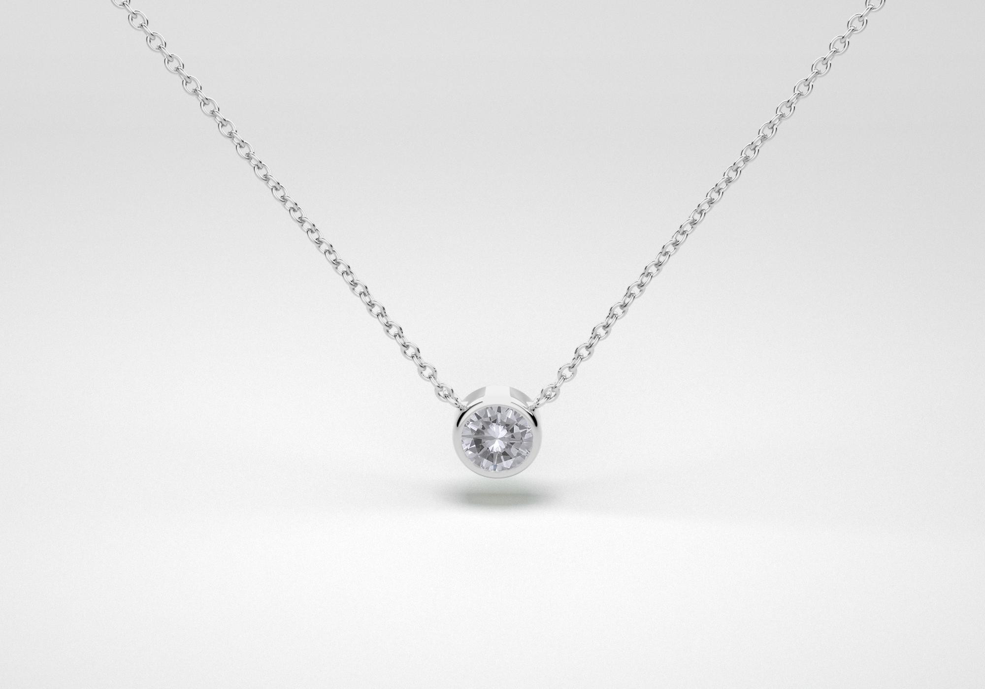 The One Necklace - Gray - White Gold 18 Kt