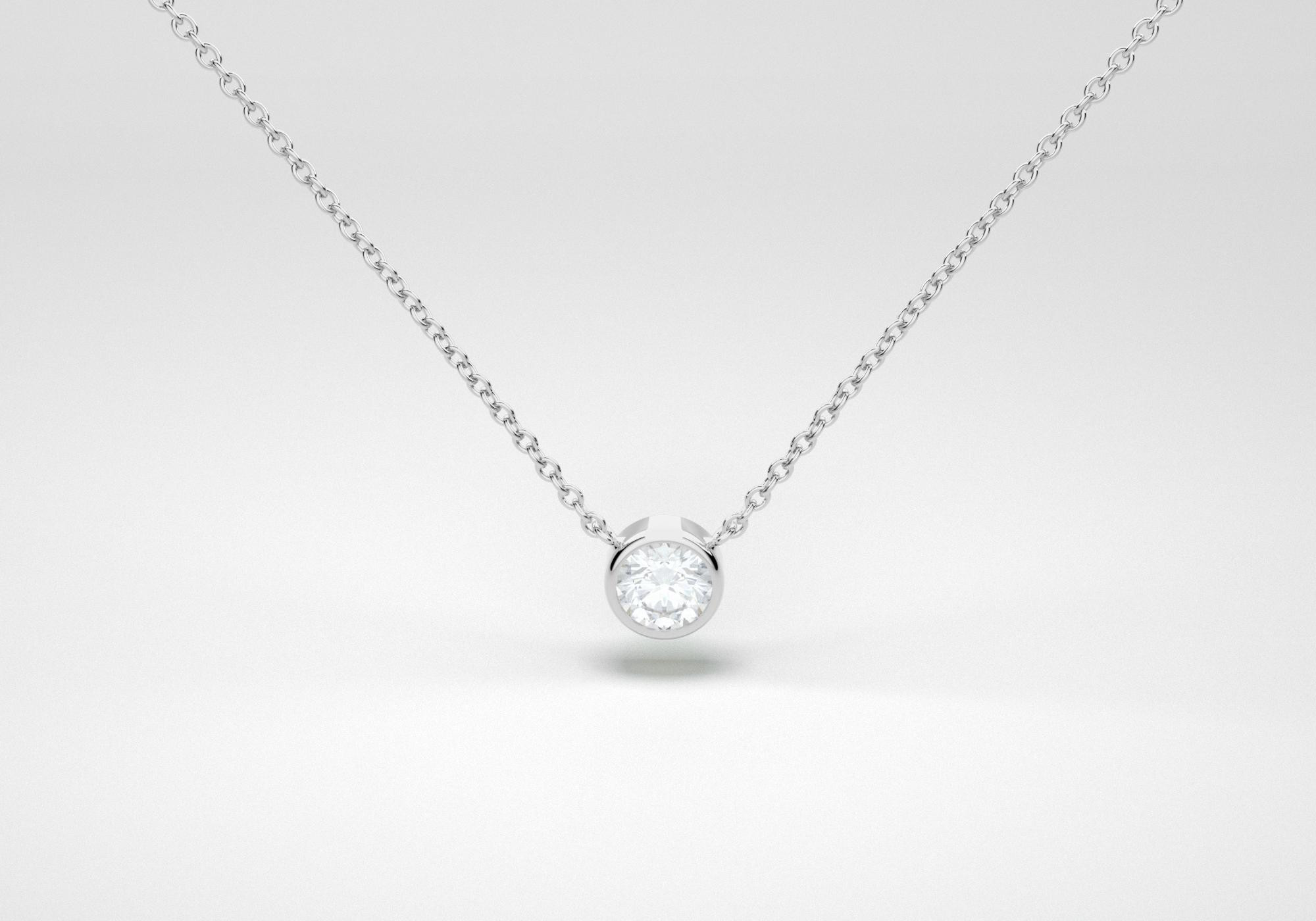 The One Necklace - White - White Gold 18 Kt