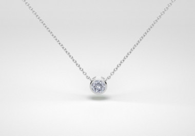 The One Necklace - Steel - White Gold 18 Kt