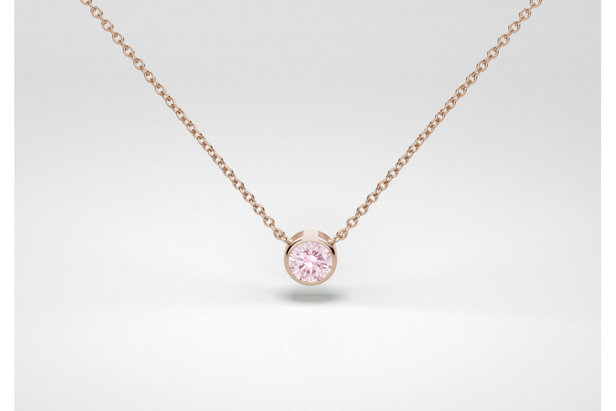 The One Necklace - Pink - Rose Gold 18 Kt