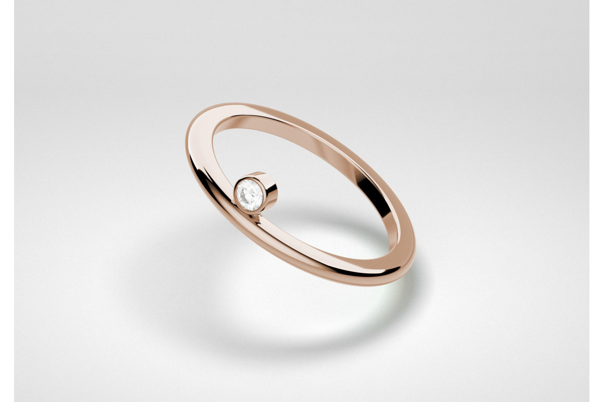 The One Ring - White - Rose Gold 18 Kt
