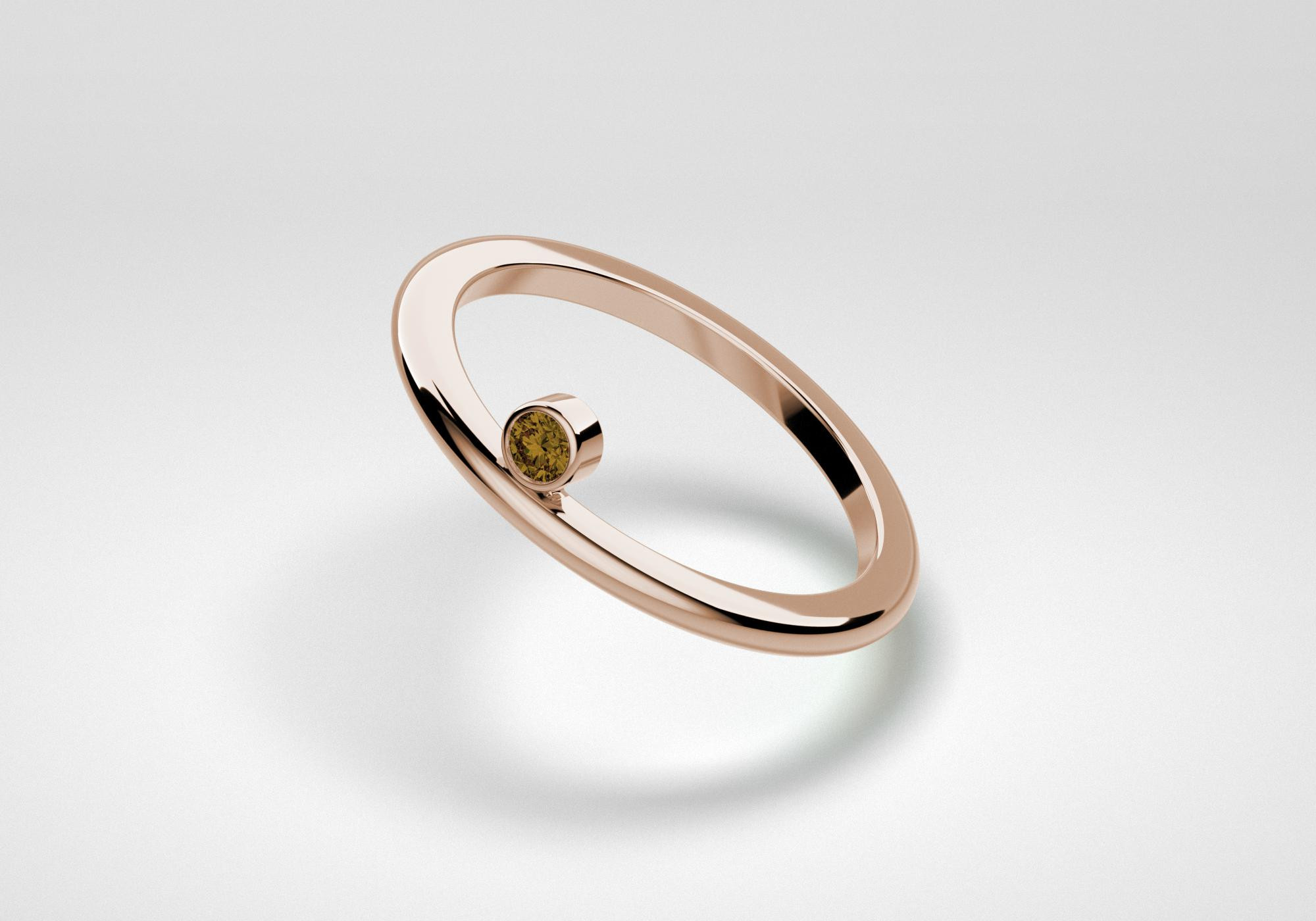 The One Ring - Chocolate - Rose Gold 18 Kt