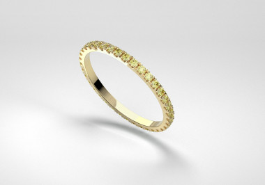 The Line Eternity Ring - Canary - Yellow Gold 18 Kt